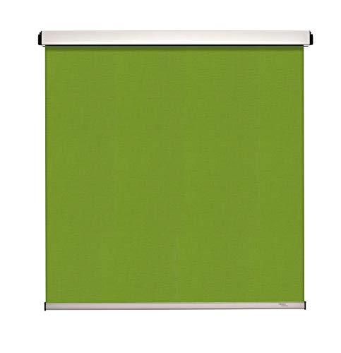 Kirsch Personalmanagement GmbH Sonnenschutzrollo Elektrorollo mit Akku - ohne Bohren mit Klemmträger in schwarz - 85x55 - grün Blickdicht und lichtdurchlässig