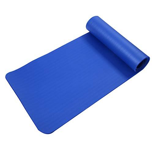LafyHo Outdoor Indoor 15mm Faltbare Übung Yoga-Matte Anti-Rutsch-Pad Thick Yoga-Matte Fitness Pilates Mat Camping Isomatte Blau