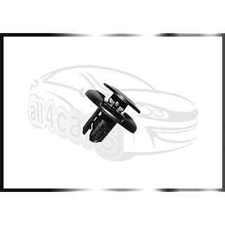 All4cars 91501-S04-003 / 91512-SX0-003 Grill Radlauf Verkleidung Spritzschutz Stoßfänger Verkleidung Plastik Klammern 10 Teile