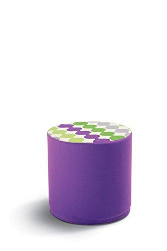 Pouf contenitore in tessuto o ecopelle cm 40 - Vari Colori