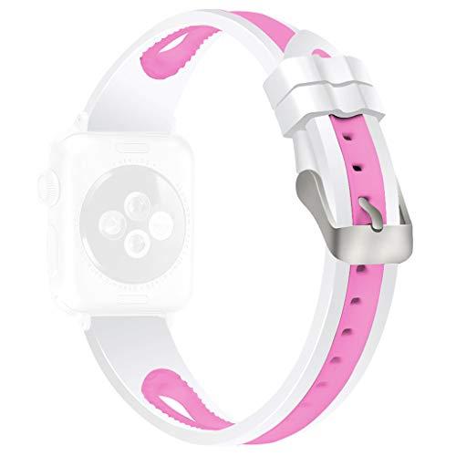 Webla Advanced Sports Bicolor Ersatzband für die Apple Watch 4321.38 / 40mm / Silikon 3 Pac Boots