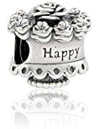 Pandora Women's 925 Sterling Silver Happy Birthday Bead
