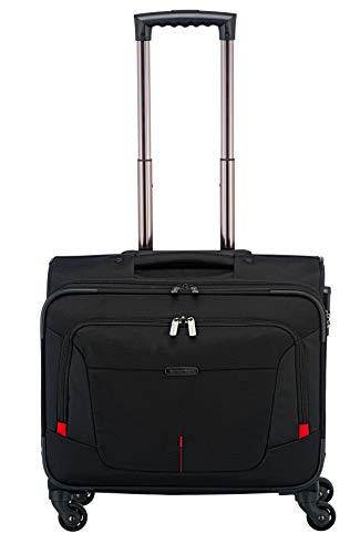 Travelite Organisiert verpackt: Mehrteilige Business-Gepäckserie @work für Ihre erfolgreiche Geschäftsreise Laptop Rollkoffer, 45 cm, 32 Liter, schwarz