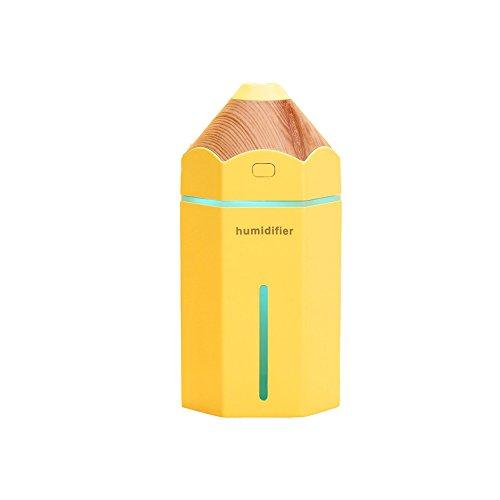 LX7 Aromatherapie Essentielle Öl-Diffusor Cool Mist Befeuchter 230Ml Ultraschall-LED-Licht Perfekt Für Zu Hause, Büro, Wohnzimmer, Spa,Yellow
