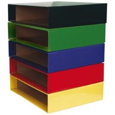 Scatola Cartone Raccoglitori a Leva, Formato A4, Colore: Blu - Rw Leva