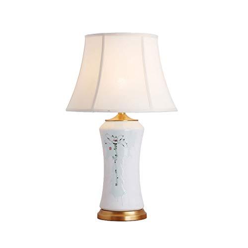 Volle Kupfer Keramik Tischlampe-wohnzimmer Schlafzimmer Nacht Neuen Chinesischen Stil Romantische Hochzeit Kreative Tischlampe (ohne Lichtquelle) (Color : B 37) -