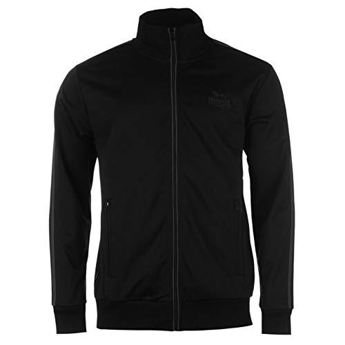 Lonsdale Herren Trainingsjacke Jacke Sportjacke Sport Freizeit Reissverschluss Black/Charcoal Large