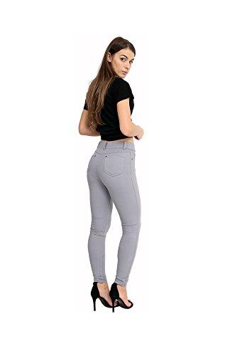 FASHION INDTYLE Ladies Stretchy Denim Womens Skinny Leggings Cotton Slim Jeggings