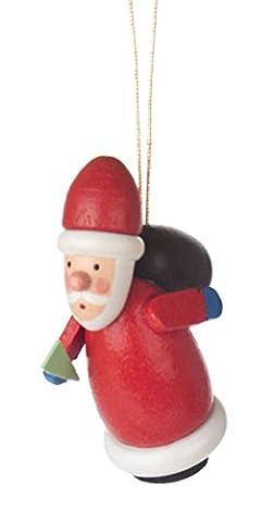 Baumbehang Weihnachtsmann von DREGENO SEIFFEN – Original erzgebirgische Handarbeit, stimmungsvolle Weihnachts-Dekoration