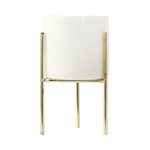 Gold-topf (Gulin Metall Blumentopf Rack, Kreatives Blumentopf-Gestell-Landschaftsregal, Garten-Topf-Behälter)