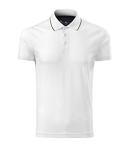 OwnDesigner by Adler Modisches Herren Poloshirt Grand - Super Premium Stoff & Shirt Schnitt   100% merzerisierte Baumwolle Seidenglanz   S - XXXL (259-Weis-M)