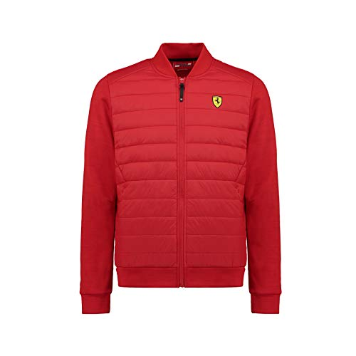 Ferrari 2018 Scuderia Herren Bomberjacke Mantel Größen XS-XXL Offizieller Merchandise-Artikel, rot, (S) 37 inch Chest/EU 44-46