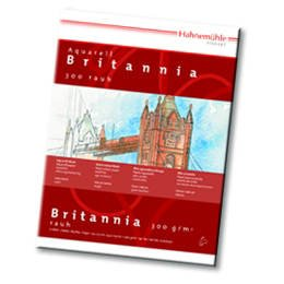 Hahnemühle Aquarellblock Britannia 30x40cm 12 Bl., - CHM10628972