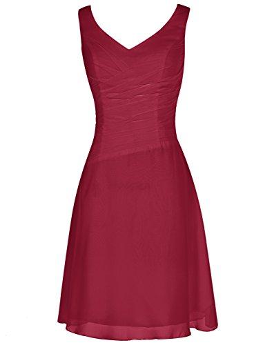 Find Dress Robe de Cocktail Longue pour Mariage/Soirée pour Femme Ronde Rétro Vintage Robe de Gala Gown Anniversaire Wedding Dress Taille Personnaliser Mousseline Rouge Foncé