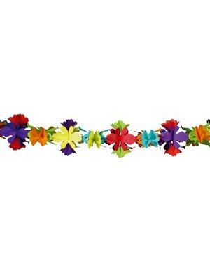 Guirlande papier fleurs 4 mètres - Taille Unique
