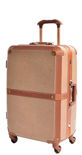 Mittel Retro Vintage Koffer Spinner Mit 4 Rädern Rolle Gepäck Harte Schale Mit TSA-Sperre HLG603 Kamel