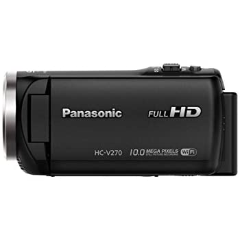 Panasonic HC-V270 Super Zoom Full HD Camcorder with Built-in WiFi with case