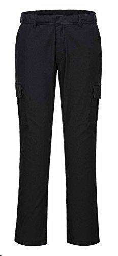 SUW–Baustellen Workwear Active Stretch Slim Combat Hosen, 28' Waist - 31 inch Leg, schwarz, 1