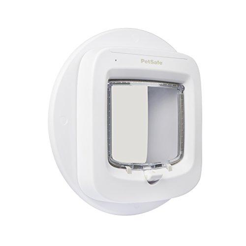 PetSafe Installationsadapter für Mikrochip Katzenklappe, Glas Montage Adapter, für Fenster, Glastüren, Metalltüren, weiß