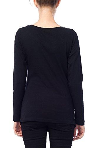 Maternité tee shirt de grossesse motif humour imprimé - Je t'aime maman Noir - Noir