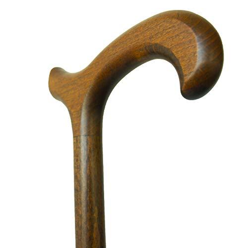 Bastón marrón empuñadura tipo Derby madera
