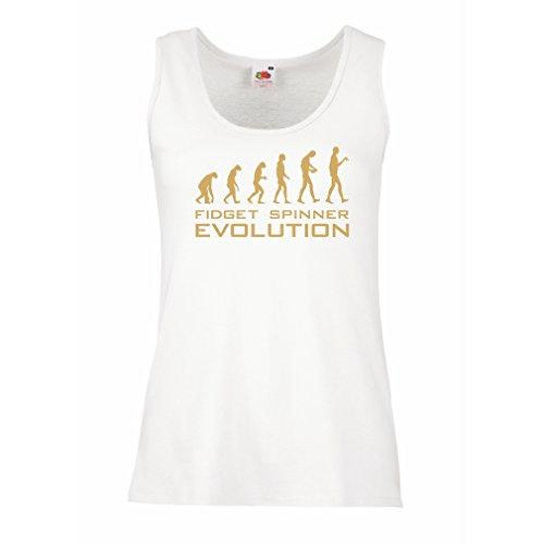 Top Die Evolution - Fidget Spinner (Small Weiß Gold) (Bubble Guppies-logo)
