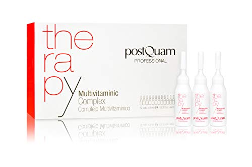 Postquam - Therapie   Multivitamin-Komplex behandlung zur Bekämpfung von Haarausfall - 12 Ampullen Anti-Haarausfall x 9 ml (Haarausfall Behandlung-vitamine)