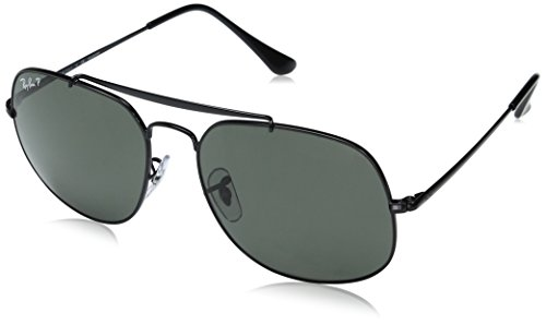Ray-Ban Polarized Square Men's Sunglasses - (0RB3561002/5857|57|Polar Green Color)