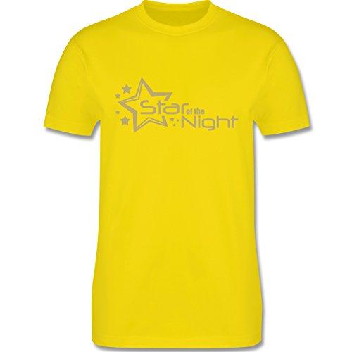 JGA Junggesellenabschied - Star of the Night - Herren Premium T-Shirt Lemon Gelb