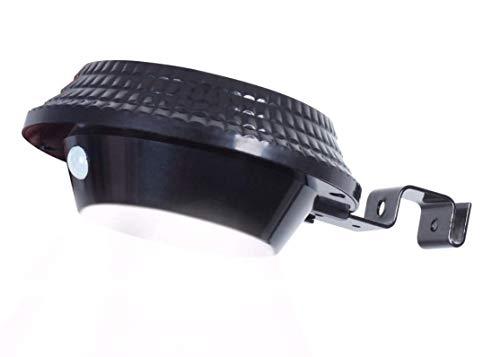WFTD Luz De Canal Solar Luz De Pared PIR Sensor De Movimiento Resistente Al Agua De Seguridad Inalámbrica con Soporte 12 LED Adecuado para Jardín Al Aire Libre, Valla, Casa De Perro,Black,Round