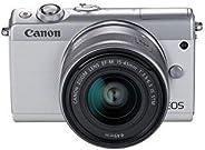 Canon EOS M100 digitalkamerapit 24,2 MP CMOS 6000 x 4000 pixlar, CMOS, Full HD, pekskärm, vit