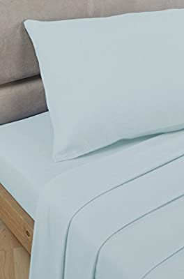 "Bedding Heaven 2' 6"" Percale 180 Thread Count Fitted Sheet. DUCK EGG. Ideal for Bunk Bed, Small Single and Caravan Bed. - low-cost UK light shop."
