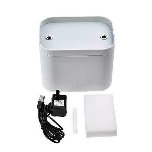 HEIRAO Fuente de Agua Potable del Gato, dispensador automático de Ciclo eléctrico del Agua del Perro casero del oxígeno Activo eléctrico