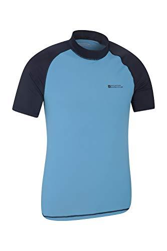 Mountain Warehouse UV-Badeshirt für Herren - Schwimmshirt mit UPF50+, schnelltrocknend, Flache Nähte UV Shirt - Ideal für Schwimmen und Tragen unter einem Schwimmanzug Dunkelblau Large (Kompression Shorts Männer Kleine)