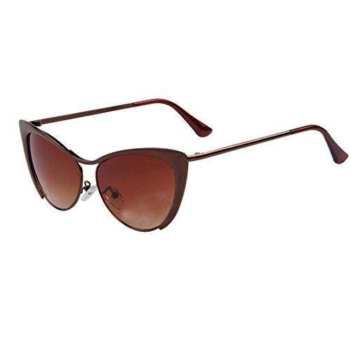 Zxyan œil de chat Patry/Lady/Anti-ultraviolet/lunettes de soleil Demi Cadre de couleur vive, C06
