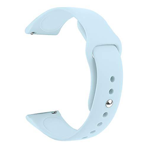 Glowjoy Kompatibel mit Samsung Galaxy Watch Active,Weiche Silikon Sport Ersatz Armband Herren Damen Verstellbare Sportuhr Ersetzerband Dauerhaft Silikonband Wristband für Runner (Light Blue) - Light Blue Runner