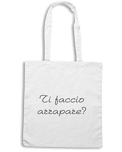 T-Shirtshock - Borsa Shopping TDM00279 ti faccio arrapare Bianco