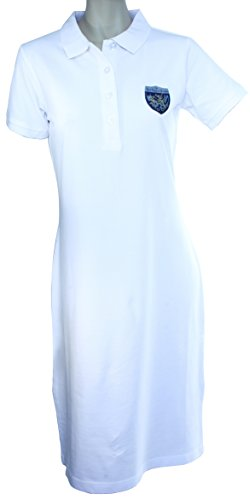 RCBPC Piqué Damen Strandkleid mit Batch Weiß