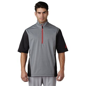 finest selection f5604 5eead adidas Men s climaproof HEATHERED RAIN JACKET SHORT SLEEVE Grey, X-Large