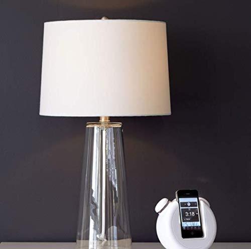 Tisch Stehleuchten,Nachttischlampen,Tischlampe Moderne Minimalistische Transparente Glas Tischlampe Warme Nachttischlampe Persönlichkeit Amerikanische Tischlampe Art Deco -