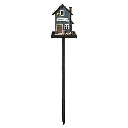 miaVILLA Futterhaus für Vögel – Vogelfutterhaus mit Ständer – Holz – Bunt - 2