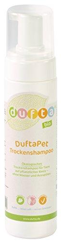 DuftaPet Trockenshampoo für Haustiere 200 ml Sprühflasche. Fellreiniger; Biologisch – umweltfreundlich – vegan