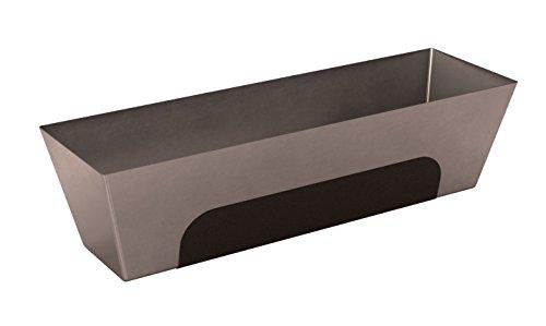 Bon 15-447 - Gaveta para hormigón (acero inoxidable, base contorneada, agarre antideslizamiento, 30,5 cm)
