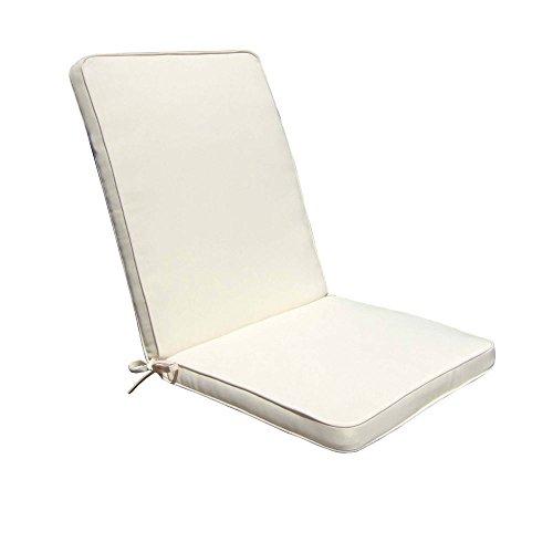 Cuscino medio seduta schienale 95x44 impermeabile sfoderabile ECRU CU805666