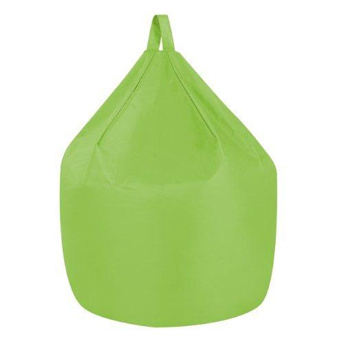 Bean Bag Bazaar Poltrona Sacco con Manico - Verde Lime, Grande, 94cm x 70cm - Pouf Sacco Camera o Giardino