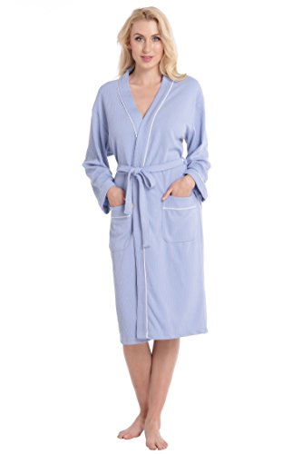 aibrou-unisex-waffle-hotel-robe-dressing-gown-100-cotton-lightweight-bath-robe-for-spa-sleepwear-blu