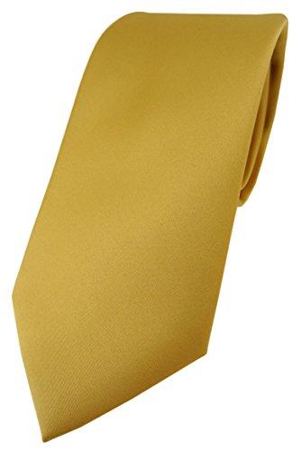 TigerTie Designer Krawatte in gold einfarbig Uni - Tie Schlips