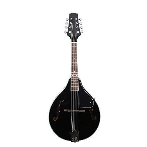 Starter Kit per Ukulele Colore Nero Classic Design 8 Strings Tiglio Nero mandolino con Il Sacchetto/String/Scelte/sfregamento Panno (Colore : Nero, Dimensione : 70x28x5cm)