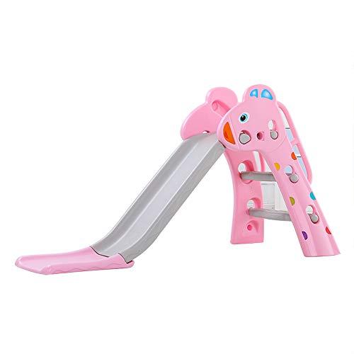 JAYLONG Kinderkunstrutsche, Faltbarer Langrutsch mit Sicherheits-Handlauf mit freundlichem PE, Sturdy Toy Indoor für Kids Fun,Pink