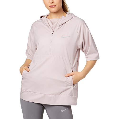 Nike Damen Pullover, wasserabweisend - rosa - Mittel Packable Trench